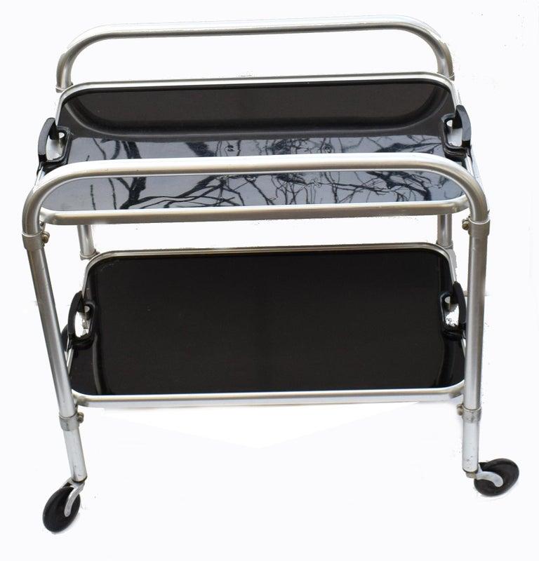 Art Deco Two-Tier Aluminium Hostess Bar Cart, circa 1930 For Sale 2