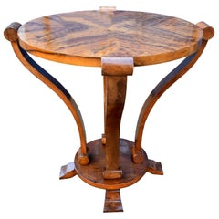 Art Deco Two-Tier Centre Table in Figured Walnut, circa 1930