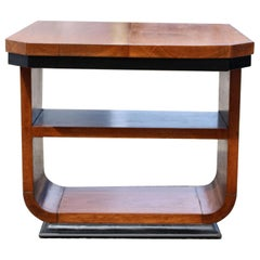 Art Deco Two Tier U Base Occasional Table, c1930