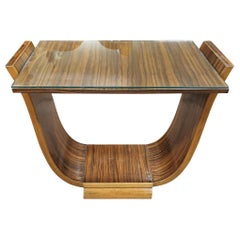 Art Deco U-Base Coffee Table in Macassar Ebony