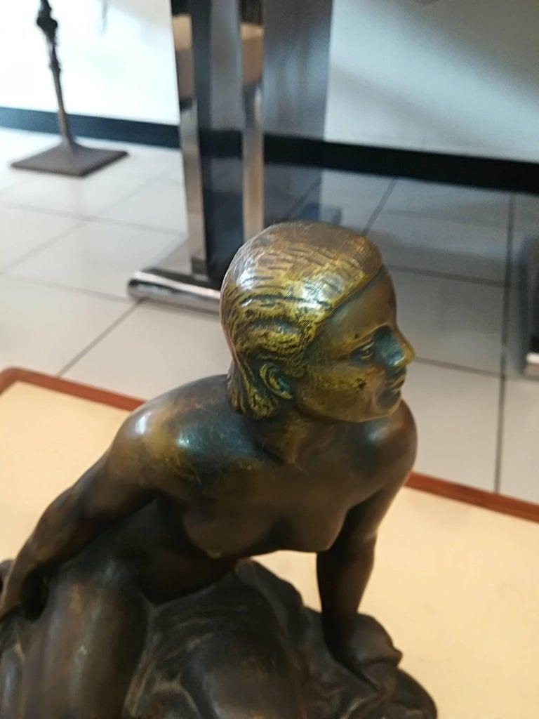 Art Deco Ugo Cipriani bronze sculpture, circa 1930, signed, in excellent condition.
