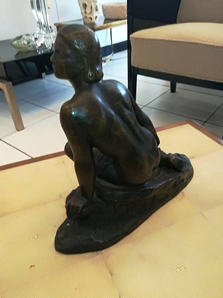 Art Deco Ugo Cipriani Bronze Sculpture, circa 1930 For Sale 1