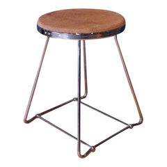 Art Deco Unusual Chrome and Cork Stool in the Shape of a Champagne Cork