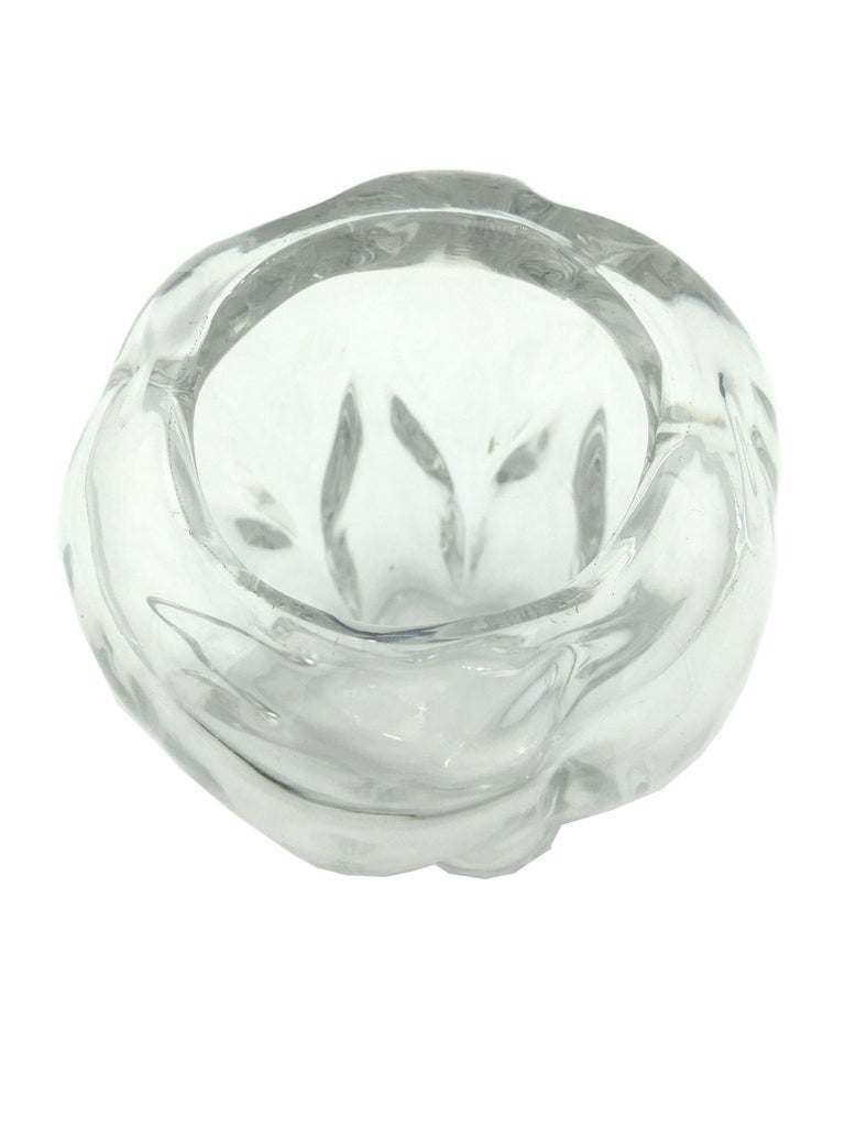 Art Deco Val Saint Lambert Crystal Vase, circa 1930 In Good Condition For Sale In Beuzevillette, FR