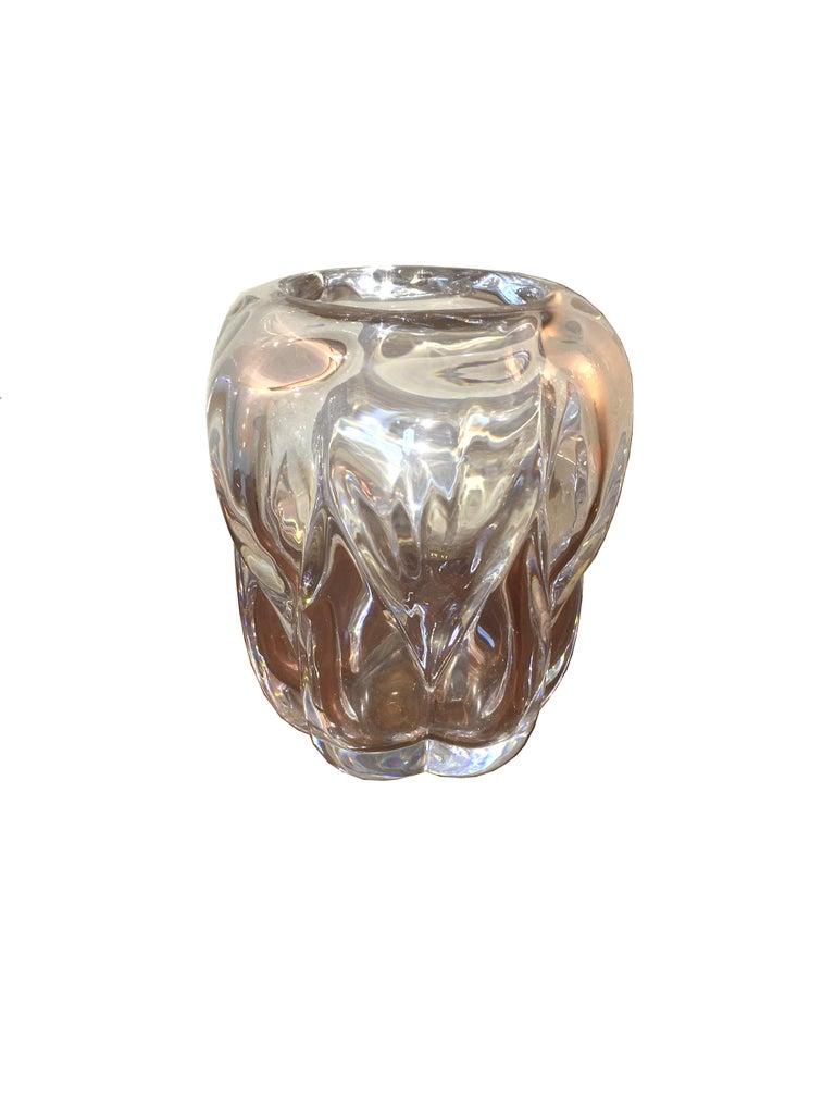 Art Deco Val Saint Lambert Crystal Vase, circa 1930 For Sale 2