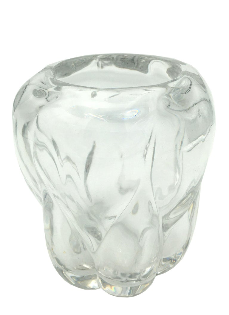 Art Deco Val Saint Lambert Crystal Vase, circa 1930 For Sale 4