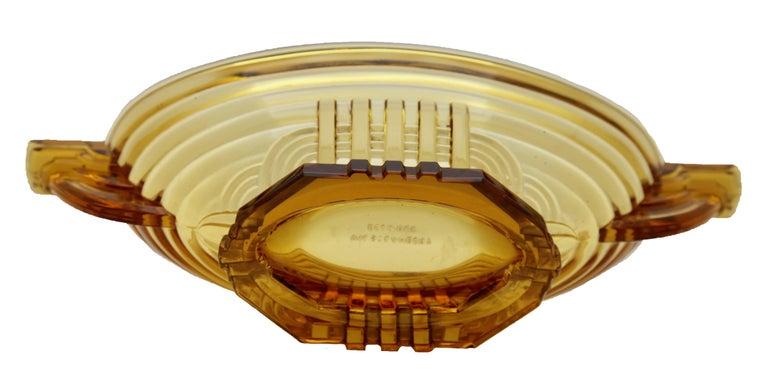 Belgian Art Deco Val Saint Lambert, Luxval, Signed Model Marcelle, Charles Graffart For Sale