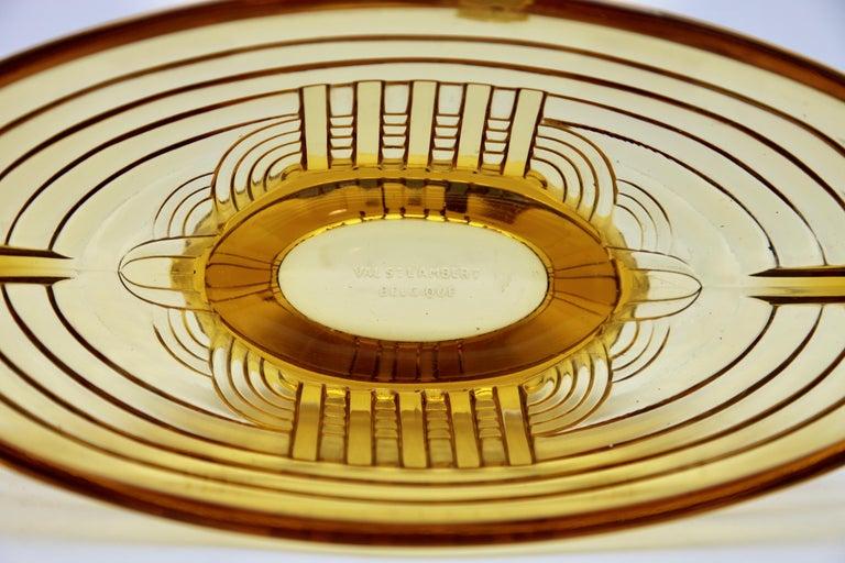 Molded Art Deco Val Saint Lambert, Luxval, Signed Model Marcelle, Charles Graffart For Sale