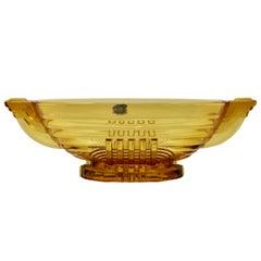 Art Deco Val Saint Lambert, Luxval, Signed Model Marcelle, Charles Graffart