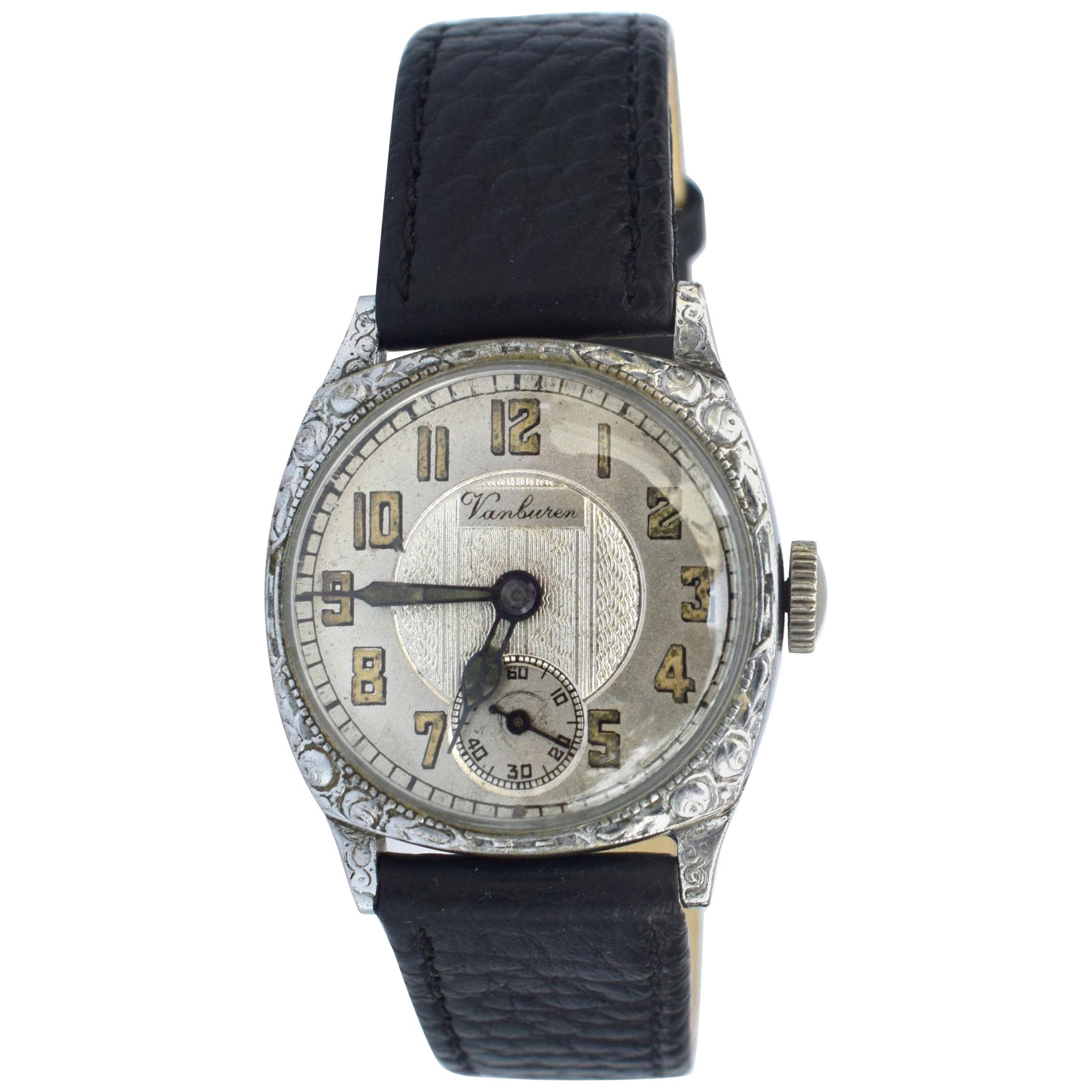 Art Deco Vanburen Gents Manual Wristwatch, circa 1930s