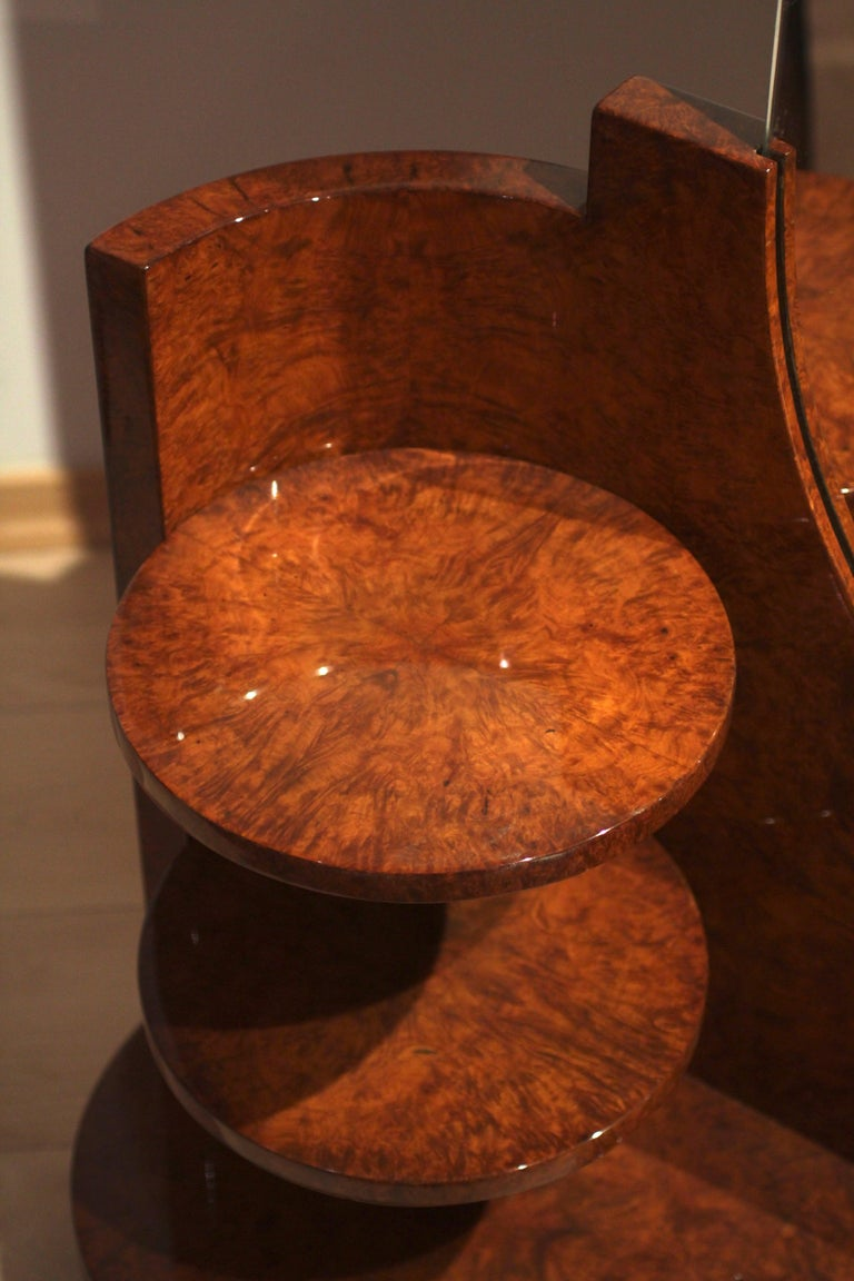 20th Century Art Deco Vanity Table, Amboyna Roots, France, circa 1925 For Sale