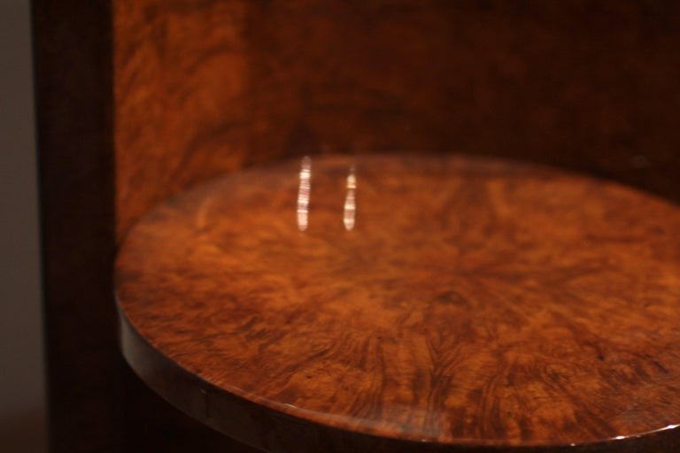 Wood Art Deco Vanity Table, Amboyna Roots, France, circa 1925 For Sale