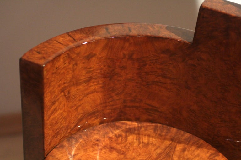 Art Deco Vanity Table, Amboyna Roots, France, circa 1925 For Sale 2