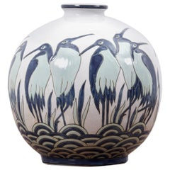 Art Deco Vase Ad003-2 in Style of Charles Catteau by Keralouve, Belgium, 1970s