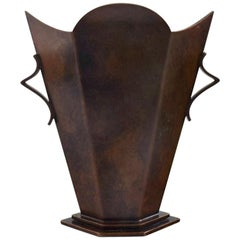 Art Deco Vase, Bronze, Danish Design, 1930s-1940s