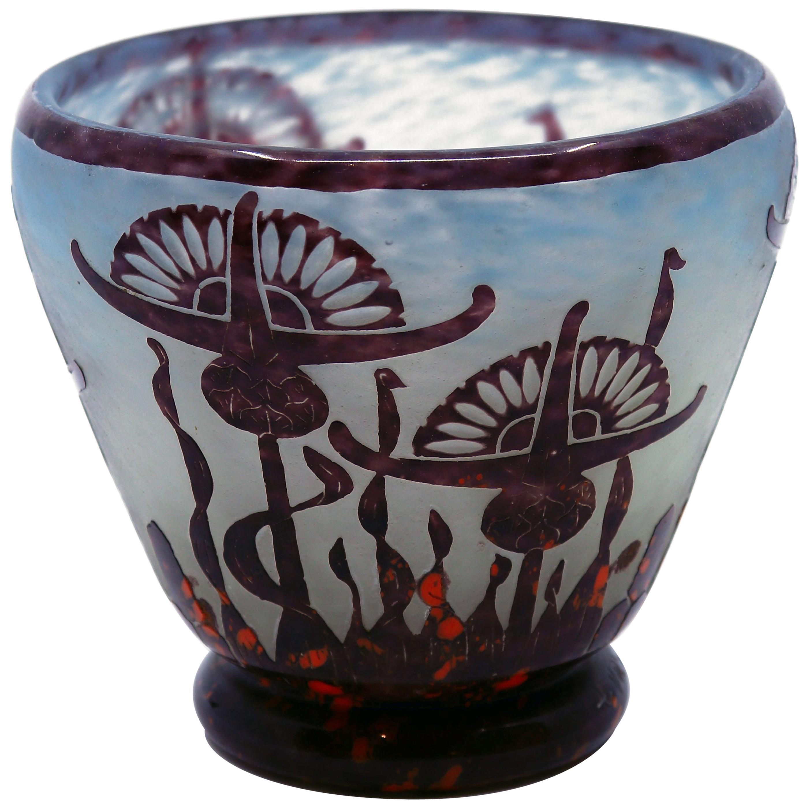 Art Deco Vase by Le Verre Francais