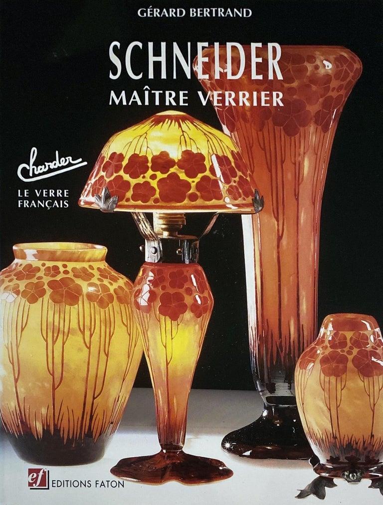 Early 20th Century Art Deco Vase by Le Verre Francais Palmier Bleus For Sale