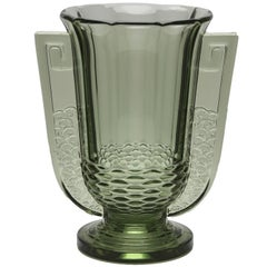 Art Deco Vase Roméo from Val Saint Lambert Luxval, Belgium, 1935