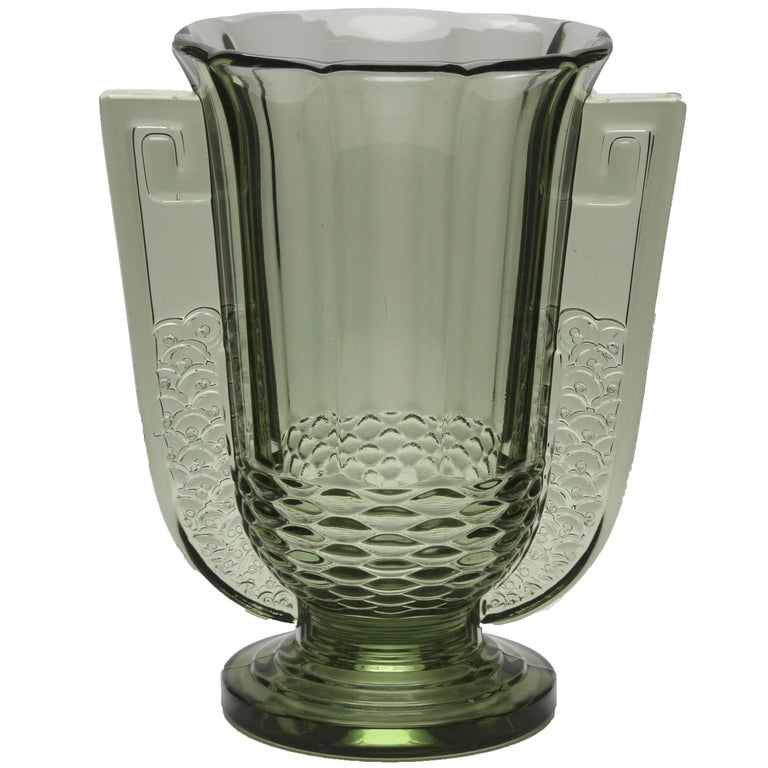 Art Deco Vase Roméo from Val Saint Lambert Luxval, Belgium, 1935 For Sale