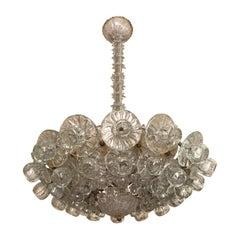 Art Deco Venetian Glass Chandelier Designed by Toso, 1920