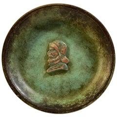 Art Deco Verdigris Bronze Dish by J.F. Willumsen, 1930s