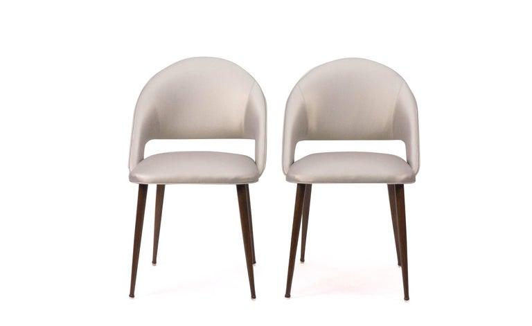Art Deco Vinyl Dining Chairs In Excellent Condition For Sale In Greenwich, CT
