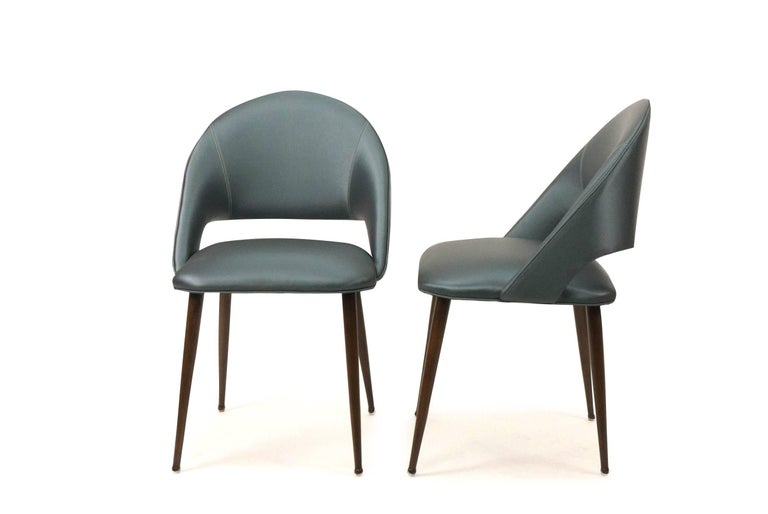 Art Deco Vinyl Dining Chairs For Sale 1