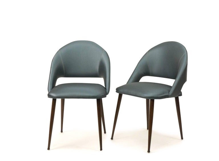 Art Deco Vinyl Dining Chairs For Sale 2