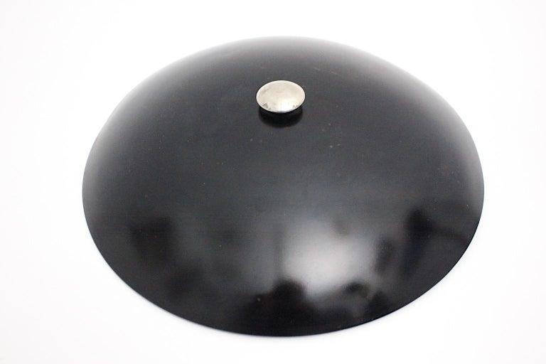 Art Deco Vintage Black Chrome Table Lamp Desk lamp Max Schumacher, 1934, Germany For Sale 12