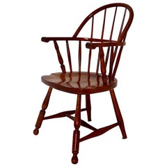 Art Deco Vintage Brown Beech Armchair Windsor Chair Josef Frank, Austria