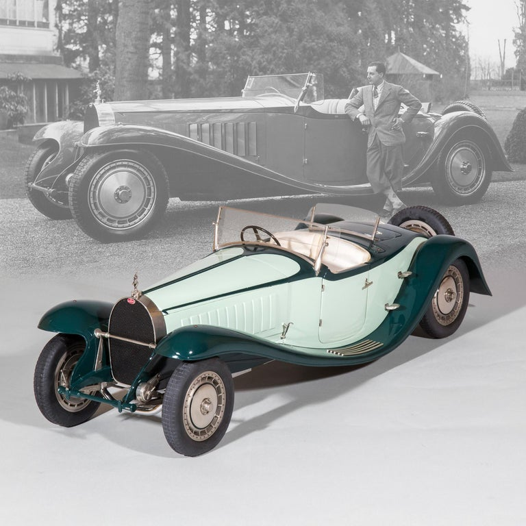 An extraordinary 1:8 scale Bugatti type 41 Royale Roadster model