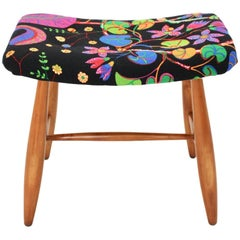 Art Deco Vintage Cherrywood Stool Josef Frank for Haus and Garten Vienna