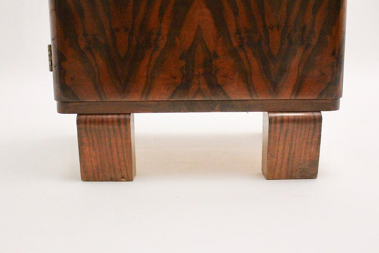 Art Deco Vintage Rosewood Brass Chest or Nightstand, Austria, 1930s In Good Condition For Sale In Vienna, AT