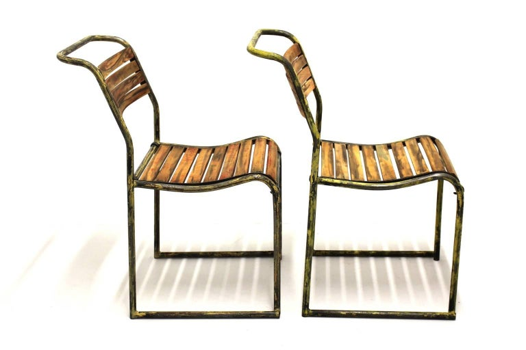 English Art Deco Vintage Steel Chairs RP6 by Bruno Pollak 1931-1932 PEL Ltd, England For Sale