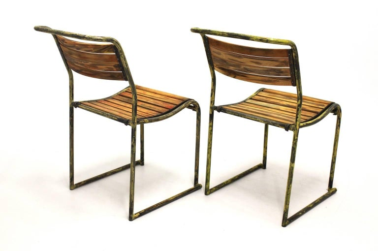 Art Deco Vintage Steel Chairs RP6 by Bruno Pollak 1931-1932 PEL Ltd, England In Good Condition For Sale In Vienna, AT