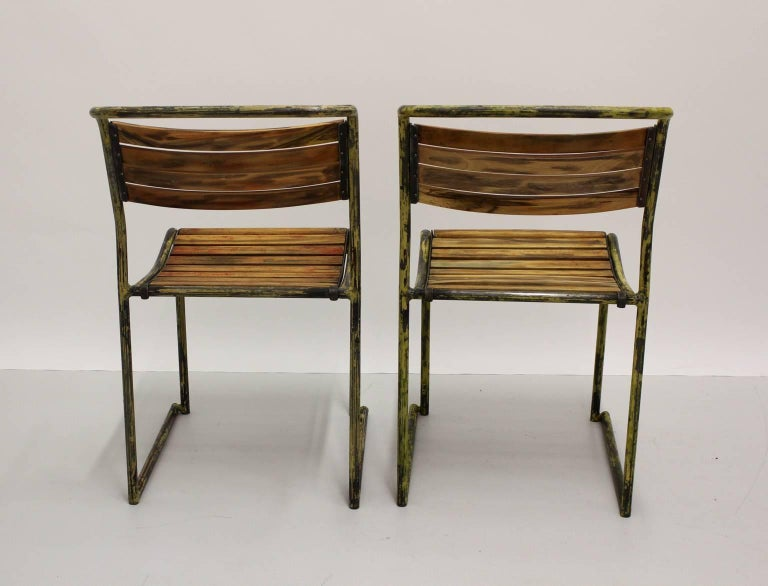 Mid-20th Century Art Deco Vintage Steel Chairs RP6 by Bruno Pollak 1931-1932 PEL Ltd, England For Sale