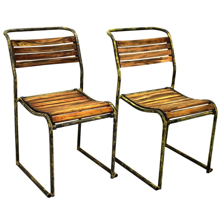 Art Deco Vintage Steel Chairs RP6 by Bruno Pollak 1931-1932 PEL Ltd, England For Sale