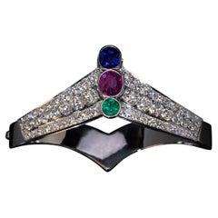 Art Deco Vintage Tiara Shaped Bangle Bracelet, 1930s