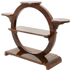 Art Deco Vintage Walnut Shelf Vienna, circa 1930