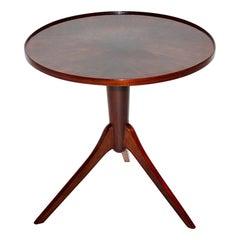 Art Deco Vintage Walnut Round Side Table Attributed Josef Frank, 1930s, Vienna