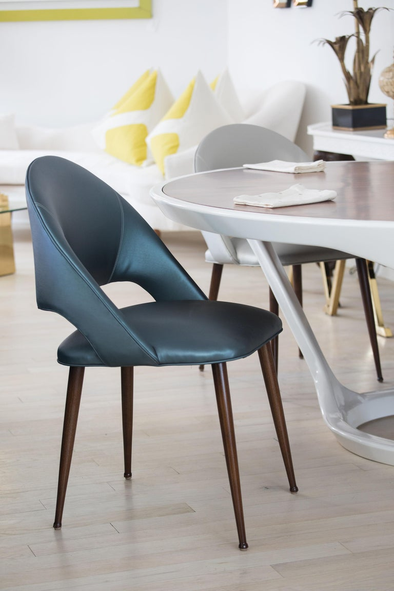 Art Deco Vinyl Dining Chairs For Sale 7