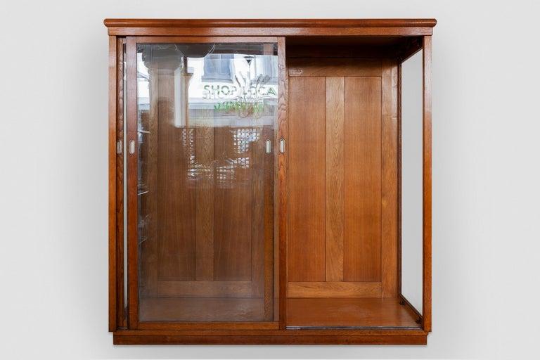 Dutch Art Deco Vitrine Display Cabinet a Cabinet of Curiosities, Wardrobe or Showcase For Sale