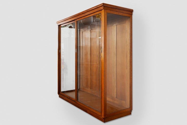 Hand-Crafted Art Deco Vitrine Display Cabinet a Cabinet of Curiosities, Wardrobe or Showcase For Sale