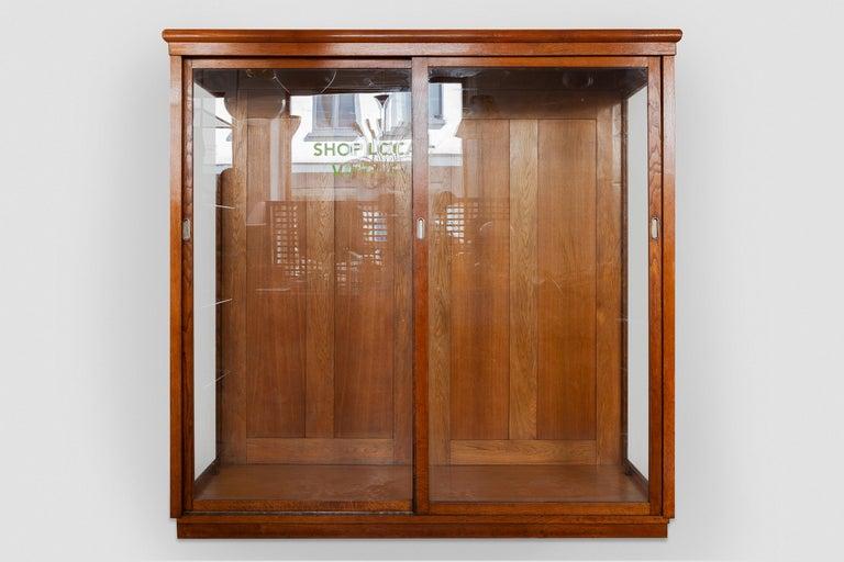 Oak Art Deco Vitrine Display Cabinet a Cabinet of Curiosities, Wardrobe or Showcase For Sale
