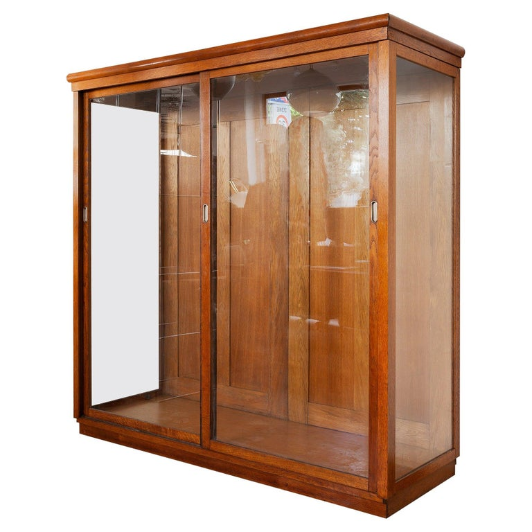 Art Deco Vitrine Display Cabinet a Cabinet of Curiosities, Wardrobe or Showcase For Sale