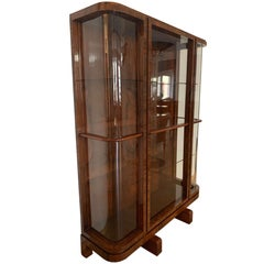 Art Deco Vitrine / Display Case, Rosewood Veneer, France, circa 1930