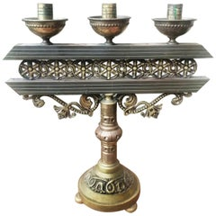 Art Deco Votive Candleholder, 3 Candles, Early 20th Century