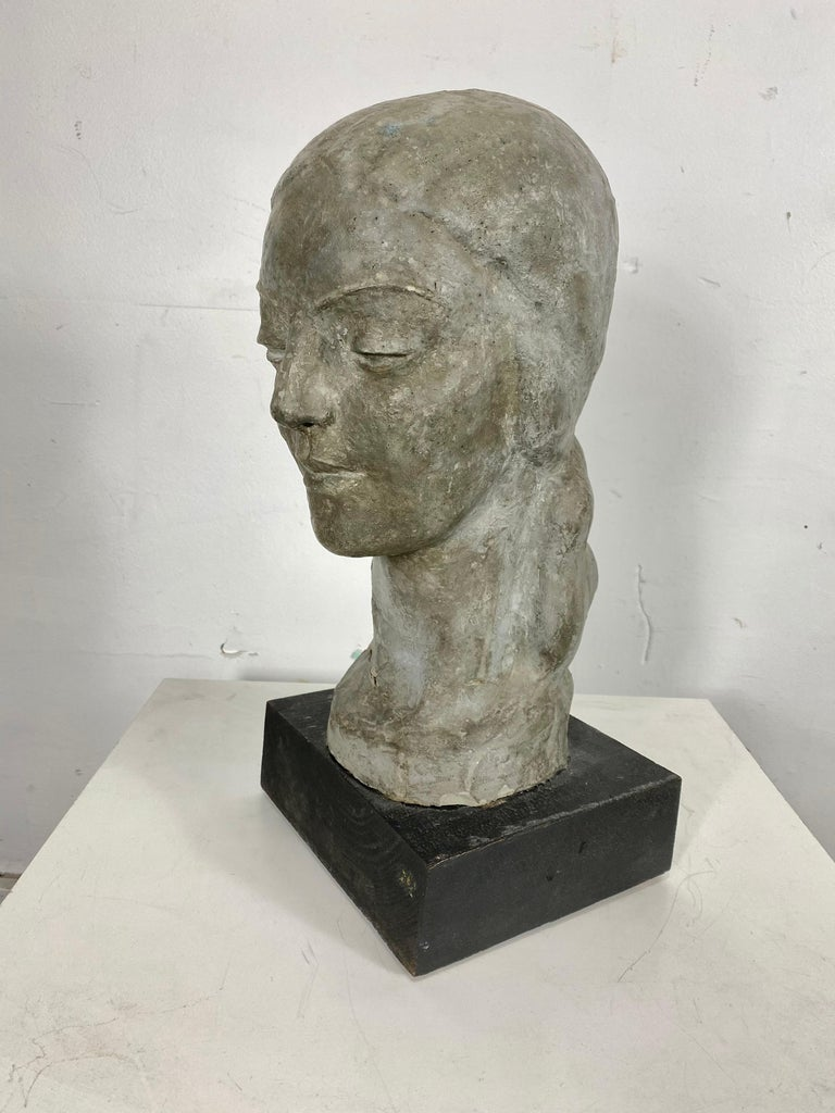 Art Deco W P A Style Sculpture 'WOMAN