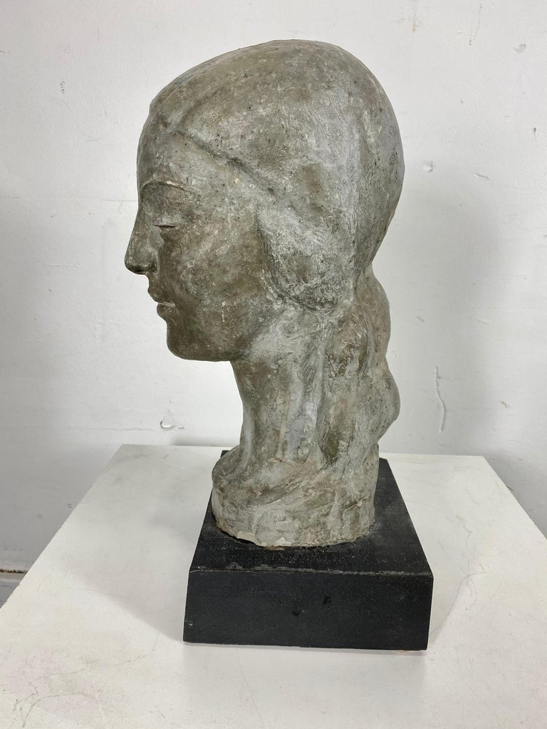 Mid-20th Century Art Deco W P A Style Sculpture 'WOMAN