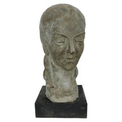 """Art Deco W P A Style Sculpture 'WOMAN"""" Hand Executed by Eugene Frances Savage"""